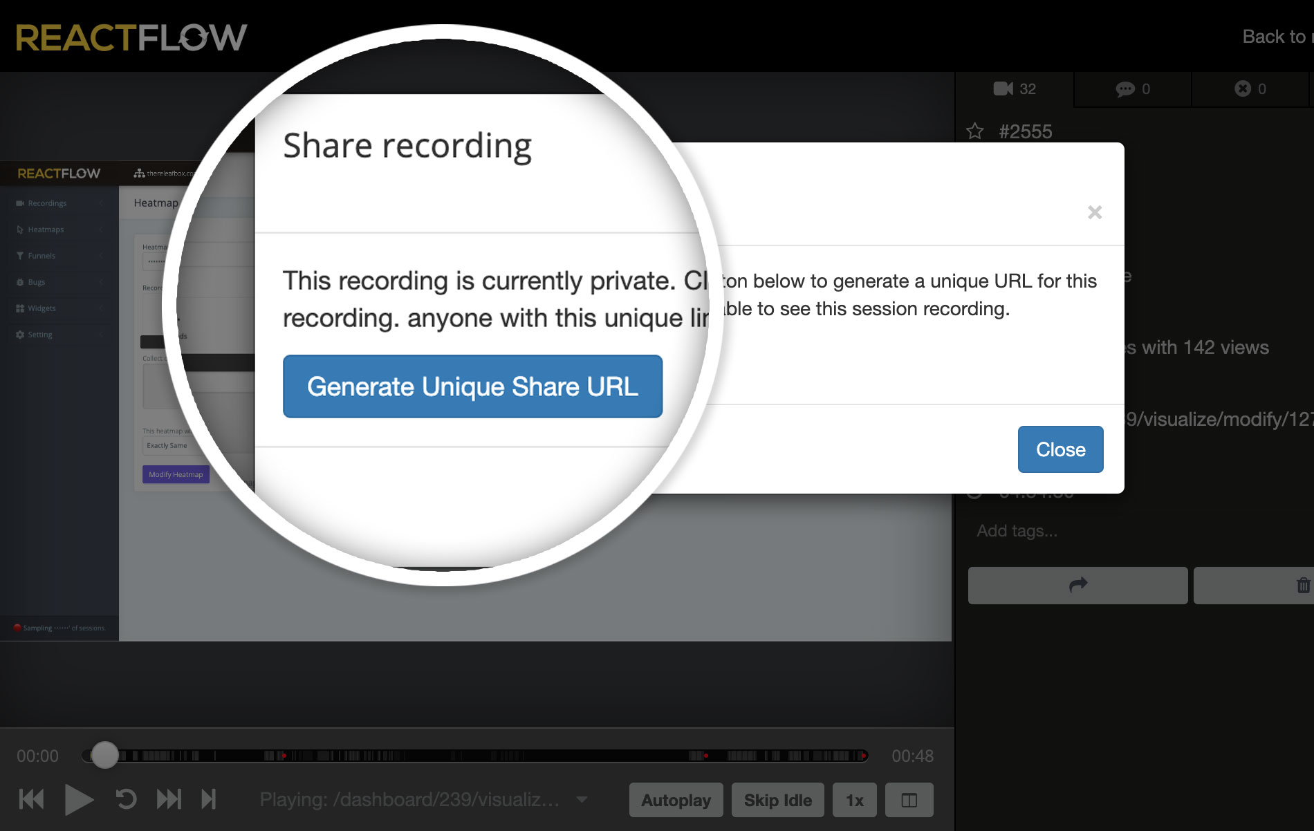 Share recordings with anyone
